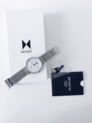 MVMT Analog Watch silver-colored-white