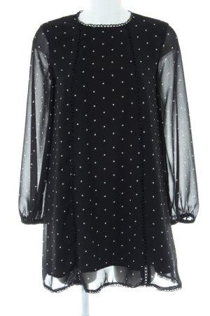 MVN Minikleid schwarz-weiß Punktemuster Casual-Look
