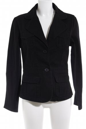 My Collection Denim Blazer black simple style