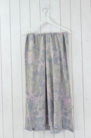 MY COSY COUTURE Schal Tuch Strick Grau Rosa Grün Camouflage Quadrat 180x180