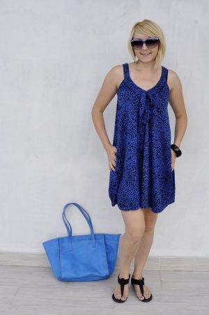 my mo sommerkleid blau leoprint gr xs 34