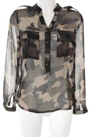 My Star Langarm-Bluse abstraktes Muster Street-Fashion-Look