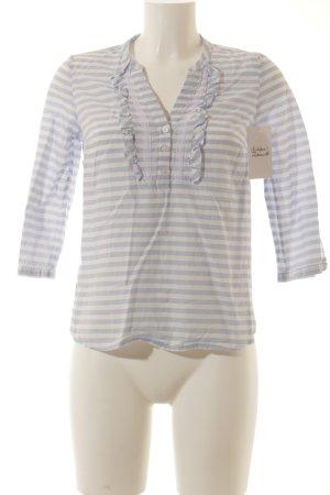 my way fer Langarm-Bluse weiß-hellblau Streifenmuster klassischer Stil