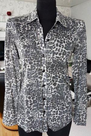 MYBC Basler Collection Bluse Hemdbluse Leo Muster Grau 36