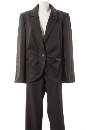 MYBC Tailleur pantalone marrone scuro elegante