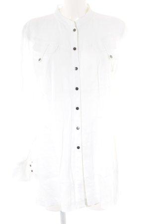 MYBC Blouse en lin blanc cassé style décontracté