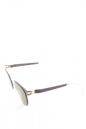 Mykita Retro Glasses dark violet-gold-colored extravagant style