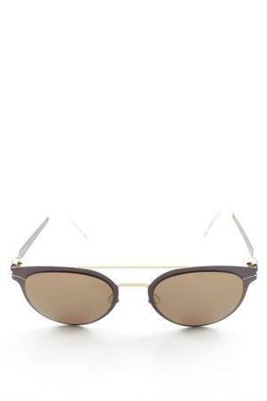 Mykita Retro Brille dunkelviolett-goldfarben extravaganter Stil