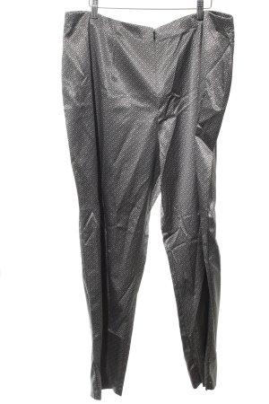 Myline Pantalone da abito argento-nero stampa integrale elegante