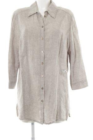 Myline Langarmhemd beige-hellgrau Street-Fashion-Look