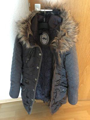 Mymo Manteau d'hiver gris foncé coton
