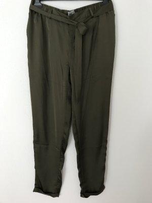 Mymo Pantalon «Baggy» gris vert-vert olive polyester