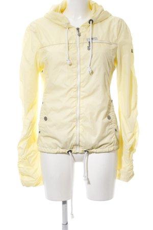 Mymo Impermeabile giallo pallido stile casual