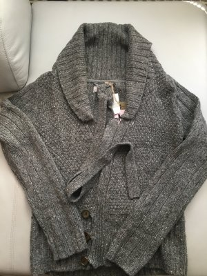 Mymo Coarse Knitted Jacket grey-dark grey polyacrylic
