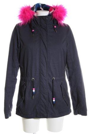 Mymo Wintermantel blau-pink Casual-Look