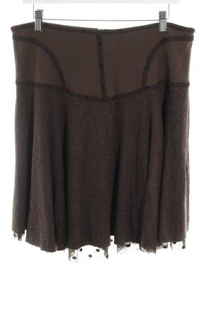 Myrine & Me Falda de lana marrón-marrón grisáceo