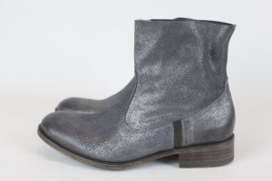 N.D.C made by hand Ankle Boots Stiefelette Gr. 36 silber Leder NEU