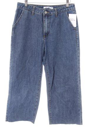 NA-KD Jeans a 7/8 blu scuro stile casual
