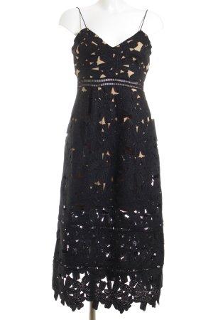NA-KD A-Linien Kleid schwarz-beige Elegant