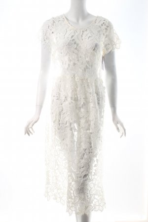 NA-KD A-Linien Kleid weiß Boho-Look
