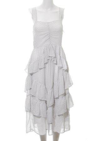 NA-KD A-Linien Kleid weiß-schwarz Punktemuster schlichter Stil