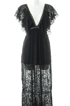 NA-KD Abendkleid schwarz Gothic-Look