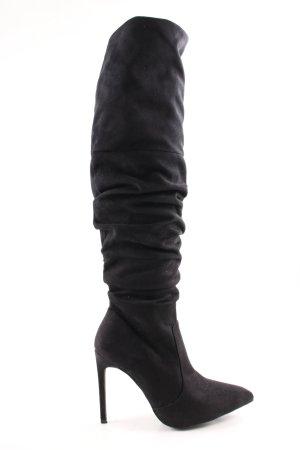 NA-KD Absatz Stiefel schwarz Elegant