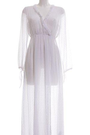 NA-KD Abito blusa bianco motivo a pallini stile romantico