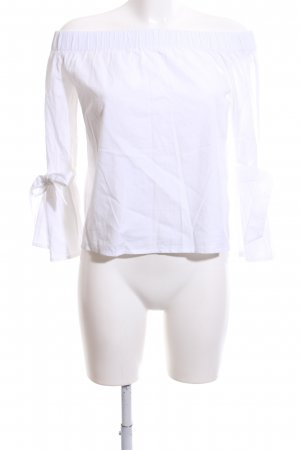 NA-KD Carmen Blouse white casual look
