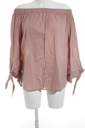 NA-KD Carmen Shirt dusky pink street-fashion look