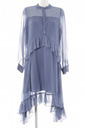 NA-KD Chiffon jurk staalblauw transparante uitstraling