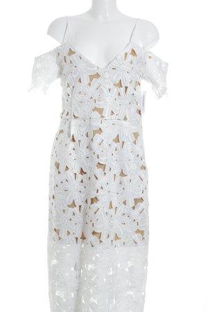 NA-KD Cut-Out-Kleid wollweiß-beige Elegant