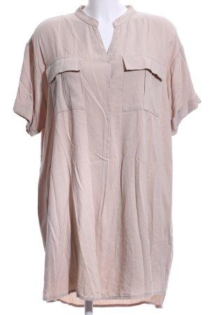NA-KD Vestido tipo blusón beige claro look casual