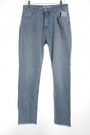 NA-KD Hoge taille jeans lichtblauw casual uitstraling