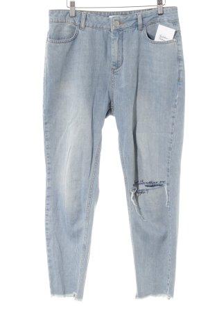 NA-KD High Waist Jeans himmelblau Destroy-Optik