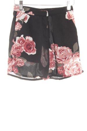 NA-KD High-Waist-Shorts Blumenmuster Business-Look