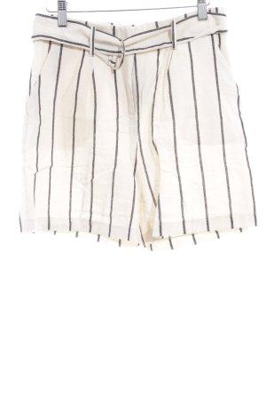 NA-KD High-Waist-Shorts creme-taupe Streifenmuster minimalistischer Stil