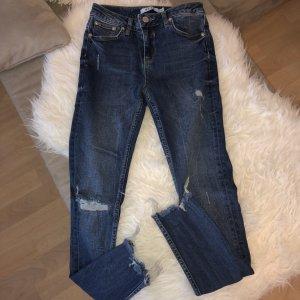 NA-KD Low Rise Jeans dark blue