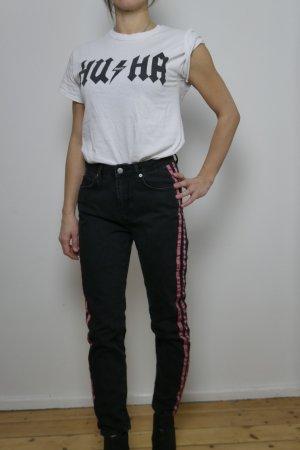 NA-KD Jeans mit roten rosa Streifen