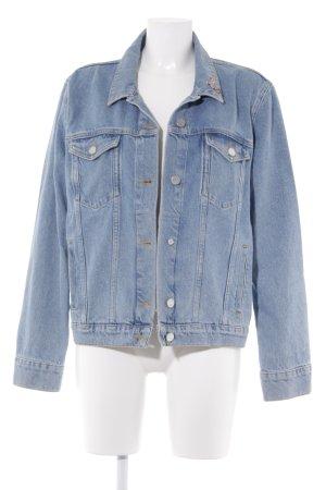 NA-KD Veste en jean bleu azur style décontracté