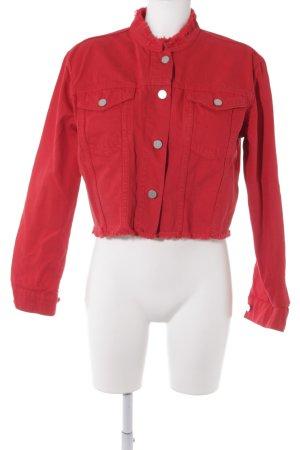 NA-KD Veste en jean rouge style mode des rues