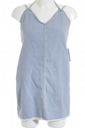 NA-KD Jeansjurk azuur straat-mode uitstraling