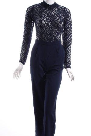 NA-KD Jumpsuit dunkelblau florales Muster Elegant
