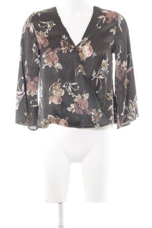 NA-KD Kimono-Bluse Blumenmuster Casual-Look
