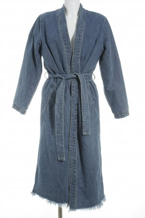 "NA-KD Jas van imitatiebont ""Denim Teddy Coat"""