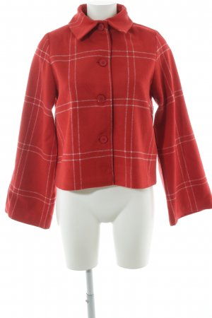 NA-KD Kurzjacke rot-weiß Karomuster Street-Fashion-Look