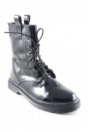 NA-KD Short Boots black wet-look