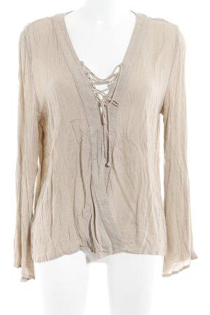NA-KD Langarm-Bluse beige Casual-Look