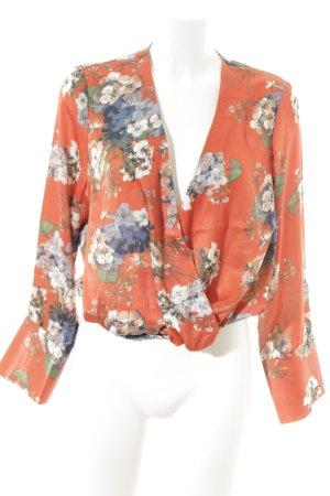 NA-KD Langarm-Bluse Blumenmuster minimalistischer Stil