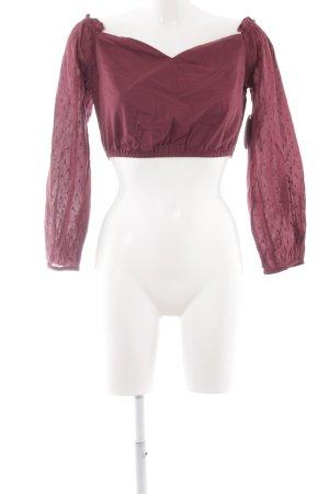 NA-KD Langarm-Bluse karminrot Casual-Look